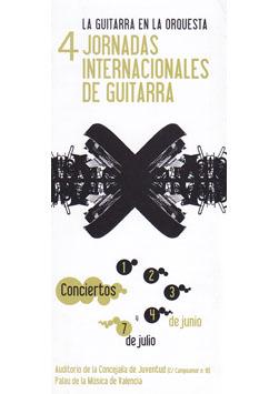 IV Jornadas Internacionales de Guitarra de Valencia 2006