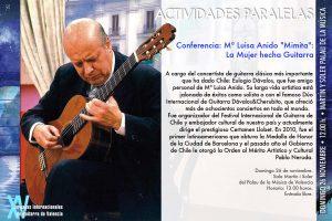 """Conferencia a cargo de Eulogio Dávalos (Chile): Mª Luisa Anido """"Mimita"""": La mujer hecha Guitarra"""
