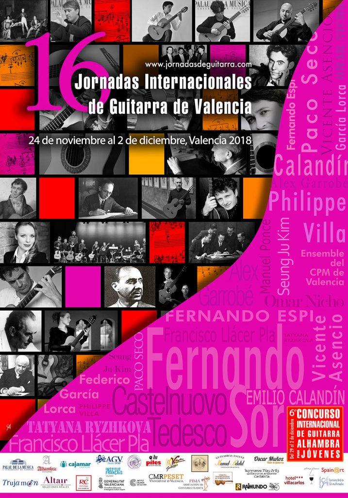 16 Jornadas Internacionales de Guitarra de Valencia 2018